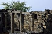 stock photo of golan-heights  - Archaeological site Mother of the Arches or Umm el Kanatir in Golan Heights Israel - JPG