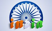 picture of ashok  - Stylish creative vector background for republic day of India - JPG