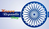 pic of ashok  - Stylish creative vector background for republic day of India - JPG