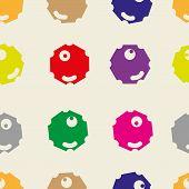 Polygonal color faces