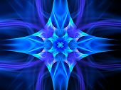 Blue Glowing Space Ornament