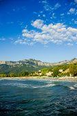Golden beach, Thassos Island, Greece.