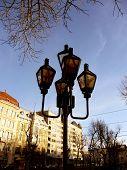 Street lamp in center of Lviv