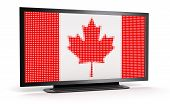 TV with Canada Flag (clipping path included)