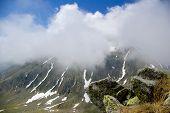 picture of blue ridge mountains  - Alpine landscape in Carpathians mountains - JPG