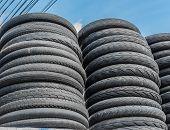 image of dirt-bike  - image of Pile of used mountain bike tires - JPG