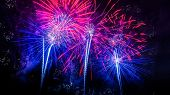 Red  And Blue Firework