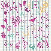 Valentine-s-day-doodle Set