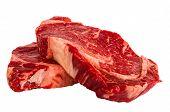 Ribeye Steaks Isolated On White Background