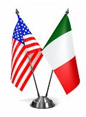 USA and Italy - Miniature Flags.