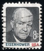 Portrait Of Pres. Dwight Eisenhower. Usa Post Stamp 1971