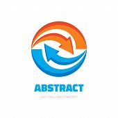 Invest - business logo concept illustration. Arrows recycled logo concept. Abstract Abstract arrows