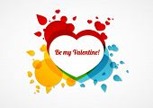 Be My Valentine Colorful Card