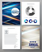 Vector template for a business project and report