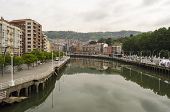 picture of basque country  - Bilbao city center view - JPG