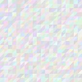 Digital triangle pixel mosaic, abstract vector background