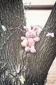 Easter Bunny In A Tree