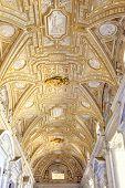 Interior Temple Of Saint Peter. Vatican