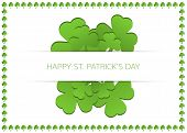 Happy St. Patrick's Day Card With Shamrocks