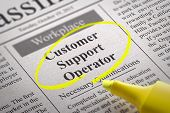Customer Support Operator Vacancy in Newspaper.