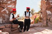 Young Peruvian Boys Around Lake Titicaca, Peru