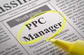 PPC Manager Vacancy in Newspaper.