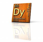 Dysprosium Form Periodic Table Of Elements - Wood Board poster