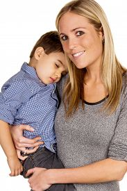 picture of stepmother  - mother and son symbol of love - JPG