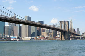 stock photo of brooklyn bridge  - Manhattan bridge - JPG