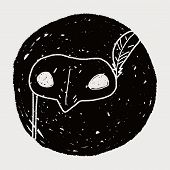pic of masquerade  - Masquerade Mask Doodle - JPG