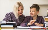 image of tutor  - Preschooler engaged lessons with tutor - JPG