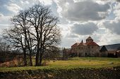 pic of bohemia  - Very old castle with spring countryside in Bohemia - JPG