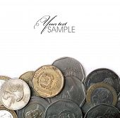 stock photo of pesos  - Coins of the Dominican Republic - JPG