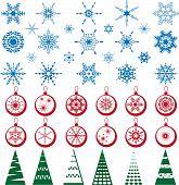 Set of christmass decoration