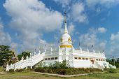 picture of worship  - place of worship with sky background at Wat Khun Sai - JPG
