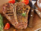 stock photo of porterhouse steak  - T - JPG