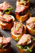 image of canapes  - canape with beef meat - JPG