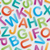 stock photo of grammar  - Colorful alphabet wallpaper - JPG