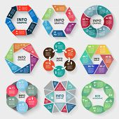 stock photo of diagram  - Vector set of circle abstract infographics - JPG