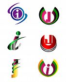 stock photo of letter j  - Letter J Company logo icon template set - JPG