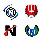 image of letter n  - Set of Letter N logo vector design - JPG