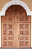 Old-fashioned Carved Door