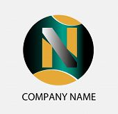 stock photo of letter n  - Letter N logo icon design template elements - JPG