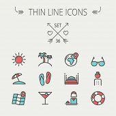 picture of outline  - Travel thin line icon set for web and mobile - JPG