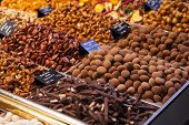 picture of truffle  - Gourmet assorted truffles on the market - JPG