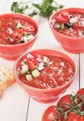 picture of vegetable soup  - Gazpacho - JPG