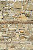 foto of tile cladding  - New stone cladding plates on the wall closeup - JPG