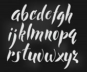 Постер, плакат: Brush Style Vector Alphabet