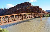 Moab Mountain Bike Bridge across Colorado River