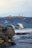 Entrance Island Lighthouse Wave